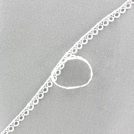 Guipure Vintage 10mm - blanc x 1m