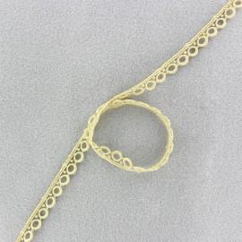 Guipure Vintage 10mm - beige clair x 1m