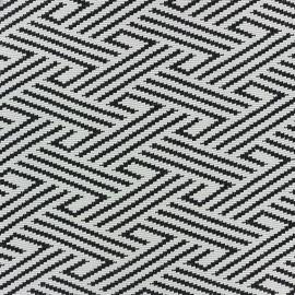 Tissu jacquard jersey Tressage - écru x 10cm