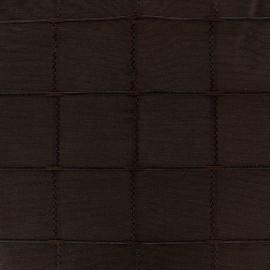 Tissu jacquard Grande Largeur Isis (280 cm) - chocolat x 11cm