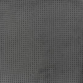 Tissu Suédine Ajourée Milky way -  Gris foncé x 10cm
