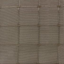 ♥ Coupon 40 cm X 280 cm ♥ Jacquard fabric Isis (280 cm) - taupe