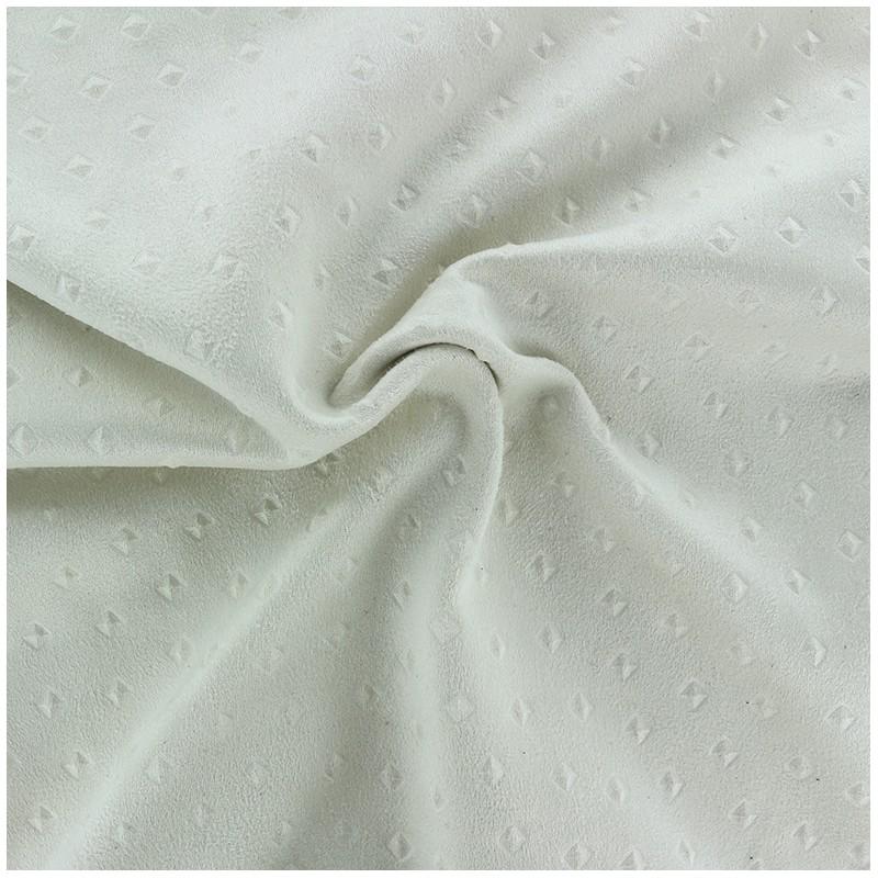 Tissus pas cher tissu su dine motif 3d ecru - Tissu suedine pas cher ...