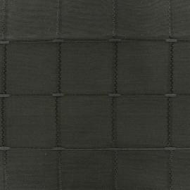 Jacquard fabric Isis (280 cm) - pewter x 11cm