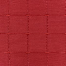♥ Coupon 25 cm X 280 cm ♥ Jacquard fabric Isis (280 cm) - ruby