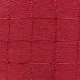 Tissu jacquard Grande Largeur Isis (280 cm) - framboise x 11cm