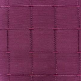 Jacquard fabric Isis (280 cm) - aubergine x 11cm