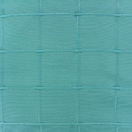 Tissu jacquard Grande Largeur Isis (280 cm) - turquoise x 11cm