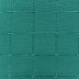 Tissu jacquard Isis (280 cm) - lagon x 12cm