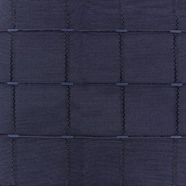 Tissu jacquard Grande Largeur Isis (280 cm) - navy x 11cm