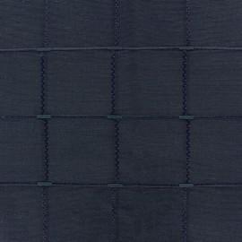 Tissu jacquard Grande Largeur Isis (280 cm) - encre x 11cm