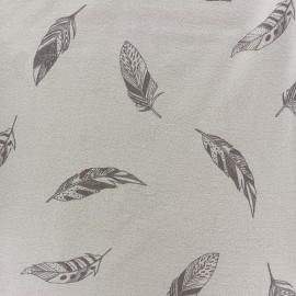 Tissu Jersey Jolie plume - beige x 10 cm