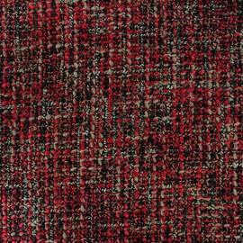 Tissu Tweed Lainage - rouge x 10cm