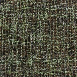 Tissu Tweed Lainage - vert x 10cm