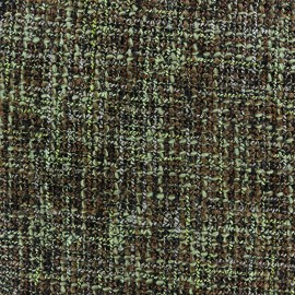 Tweed fabric Lainage - green x 10cm