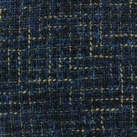 Tweed fabric Lainage - navy x 10cm