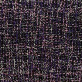 Tissu Tweed Lainage - mauve x 10cm