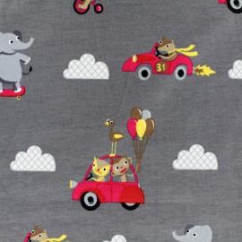 Tissu Jersey Circus - gris x 29 cm