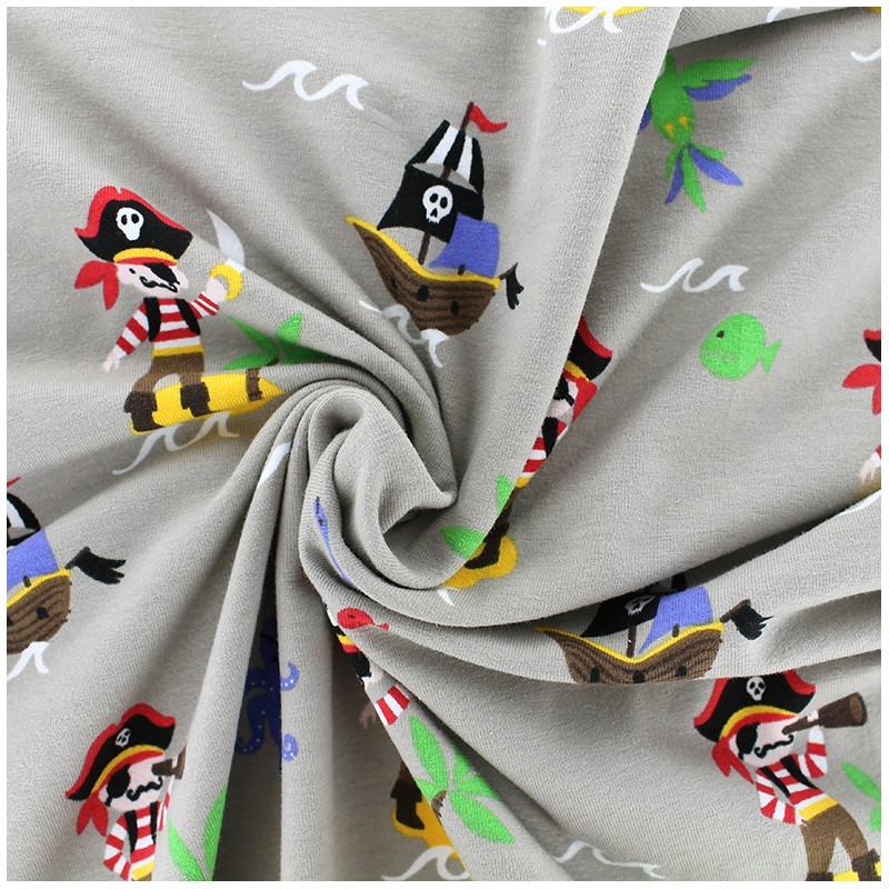 Tissus pas cher tissu jersey ile au tr sor beige x 28 cm for Au maison fabric