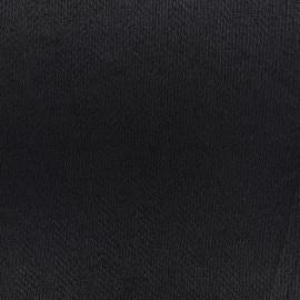 Tissu crêpe tweedé chevrons - noir  x10cm