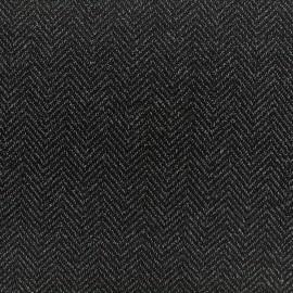 Crepe fabric tweedé chevrons - anthracite x 10cm