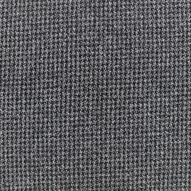 Crepe fabric tweedé quadrillage - grey x 10cm