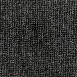 Crepe fabric tweedé quadrillage - anthracite x 10cm