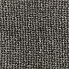 Tissu crêpe tweedé quadrillage - brun  x10cm