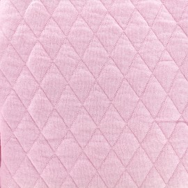 ♥ Coupon 80 cm X 160 cm ♥ Quilted jersey fabric Diamonds 10/20 - pink
