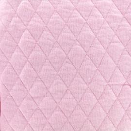 Tissu jersey matelassé losanges 30/50 - rose x 10cm