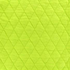 Tissu jersey matelassé losanges 30/50 -  anis x 10cm