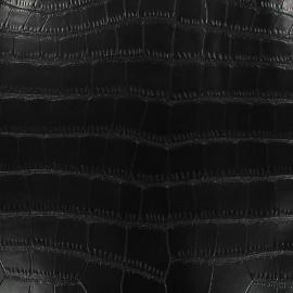 Imitation leather Gavial - black x 10cm