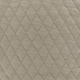 ♥ Only one piece 40 cm X 160 cm ♥ Quilted jersey fabric Diamonds 10/20 - lin