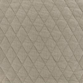 Tissu jersey matelassé losanges 30/50 - Lin x 10cm