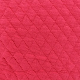 Quilted jersey fabric Diamonds 10/20 - grenadine x 10cm