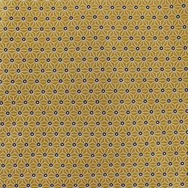 Tissu coton crétonne Saki - absinthe/blanc x 10cm