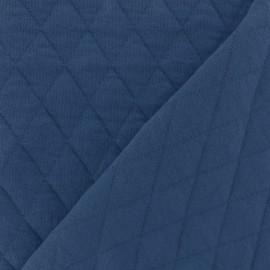 Tissu jersey matelassé losanges 30/50 - marine x 10cm