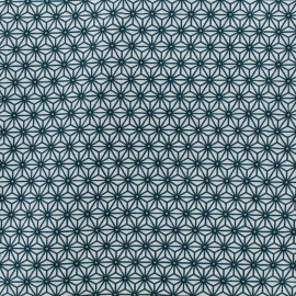 Cretonne cotton Fabric Saki - white/ duck blue x 10 cm