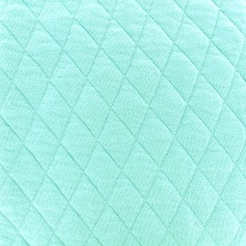 ♥ Coupon 100 cm X 155 cm ♥ Tissu jersey matelassé losanges 30/50 -  turquoise