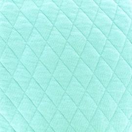 Tissu jersey matelassé losanges 30/50 -  turquoise x 10cm