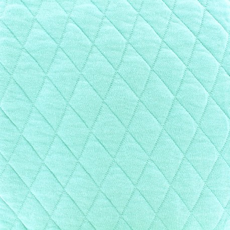 Quilted jersey fabric Diamonds 10/20 - turquoise x 10cm