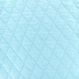 Quilted jersey fabric Diamonds 10/20 - sky x 10cm