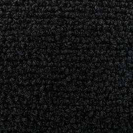 Tissu Lainage Bouclette Patagonie - Noir  x 10cm