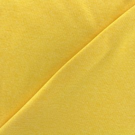 Mocked knitted Jersey 1/1 tubular edging fabric - yellow x 10cm