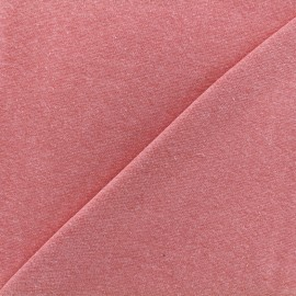 Jersey tubulaire bord-côte chiné - fuchsia x 10cm