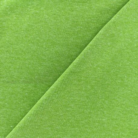 Mocked knitted Jersey 1/1 tubular edging fabric - anise x 10cm