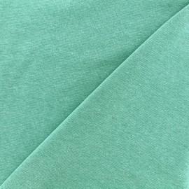 Jersey tubulaire bord-côte chiné - vert d'eau foncé x 10cm