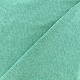 Mocked knitted Jersey 1/1 tubular edging fabric - seagreen x 10cm