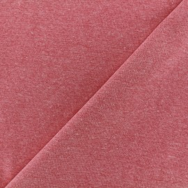 Mocked knitted Jersey 1/1 tubular edging fabric - red x 10cm