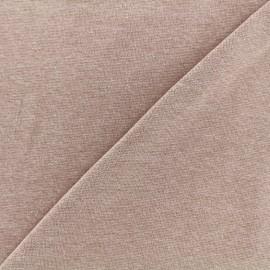 Jersey tubulaire bord-côte chiné - poudre x 10cm